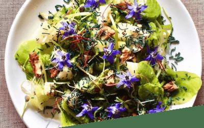 Salade fleurie à la Spiruline